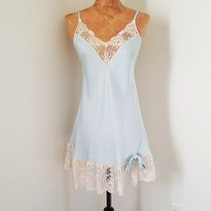 Vintage Blue Slip Nightgown